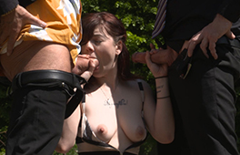 Chubby And Shy Teen Gets Used By Two Men