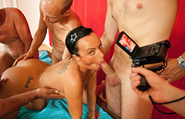 Candy in gangbang madness
