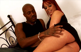 Big ass redhead gets her pussy fucked and creampied by a BBC
