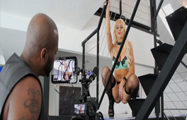 Gorgeous blonde fucked by a BBC