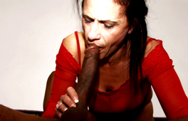 Interracial Deepthroat Cheating Granny