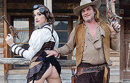 Cowgirl Chanel rides the cowboy cock