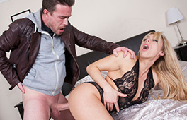 Naughty British blonde gets pounded hard by her neighbor