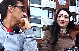 Black hair chick gets picked up and drilled hard
