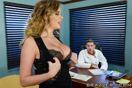 Alexis Is Called Into Her Manager's Office Because She Is Just Not Working Out As A Waitress. Danny Says She's Getting Any Better And Her Work Outfit Is Too Revealing. With Her Job On The Line, Alexis Proves To Danny That Big Tits Can Get Them Both Big Tips!