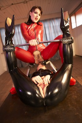 Latex Wearing Whores Elle Brook & Isabel Ice Take Fetish Fantasy To The Next Level In This Anal Pounding Bondage Scene.