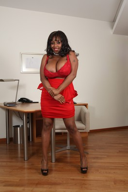 Ms. Panther Is An Ebony Milf With Magnificent Tits. They´re All Natural And She Just Loves The Sight Of A Big White Cock Between Them!