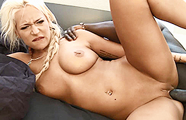 Busty Blonde Loves It Big