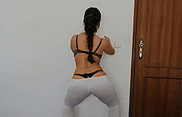 Big Booty Brunette Loves Twerking And Masturbating With Sex Toys