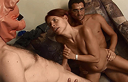 Kinky redhead MILF in hot threesome action - סרטי סקס