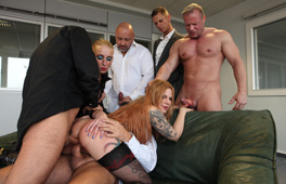 Office Gangbang Part 2 - סרטי סקס