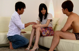 Threesome and creampie for Nozomi